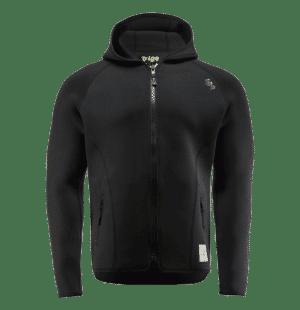 lb9 black neoprene team zip jacket