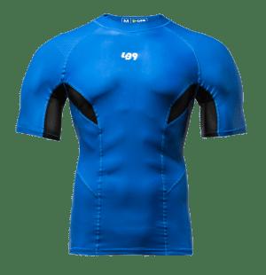 lb9 blue short sleeve rashguard